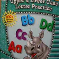 Upper lower case letter practice workbook