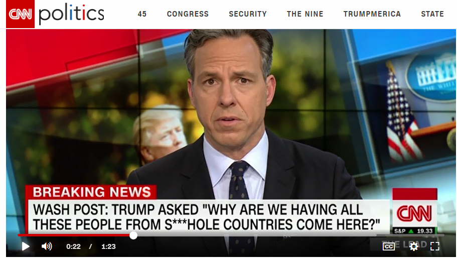 CNN trump shithole